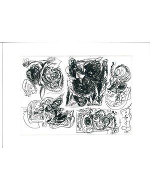 Inkttekening 486   Theo Wolvecamp (1925 – 1992)