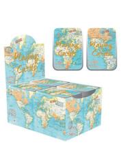 Set speelkaarten | Wereldkaart design