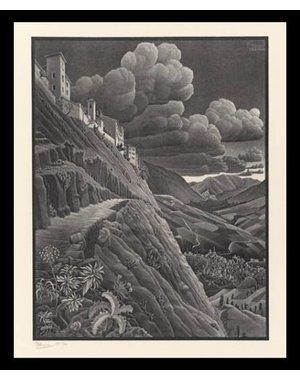 M.C. Escher | Castrovala  | Ingelijst | no. 1 - serie 57