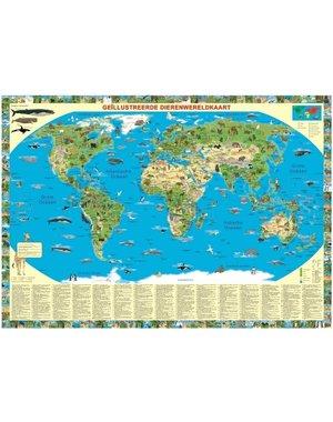 Wereldkaart | Dieren van de wereld