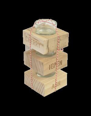 Kandelaar verschillende houtsoorten | Goochem design