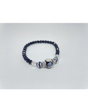 Armband - Swarovski blauw | Madame Blue