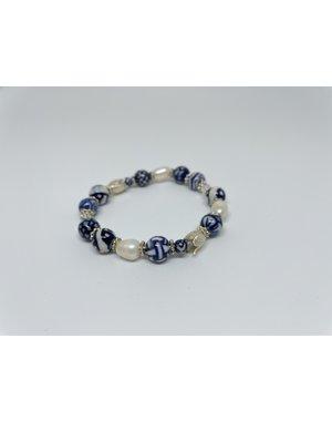 Armband - Luxe Zilveren tulp | Madame Blue