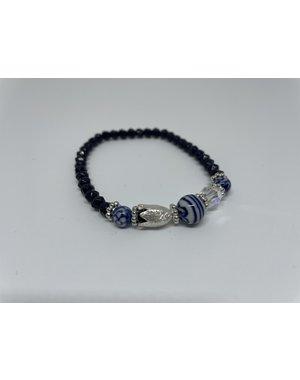 Armband - Tulp zilver | Madame Blue