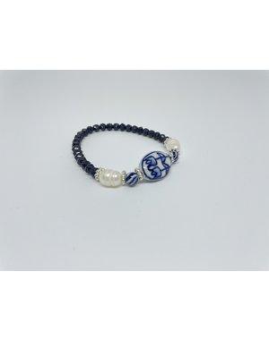 Armband - Blauw parel | Madame Blue
