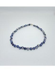 Ketting - Delftsblauw kort | Madame Blue