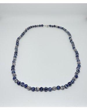 Ketting - Delftsblauw lang | Madame Blue