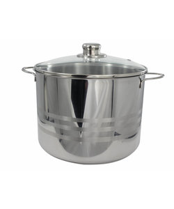 Imperial Kitchen Stainless Steel Pan - Contents 8 Liter - ø 24 cm