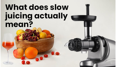 What does slow juicing actually mean?