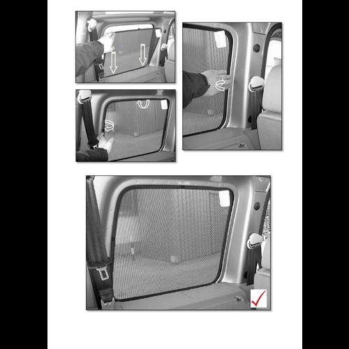 Sonniboy zonneschermen Sonniboy zonneschermen Volkswagen Caddy Combi bouwjaar 2004 t/m 2010 type met achterklep