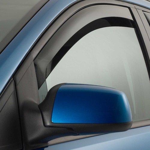 Climair zijwindschermen Zijwindschermen voor de Volkswagen Touareg zwarte raamsierlijsten uit het bouwjaar 2002 t/m 2009