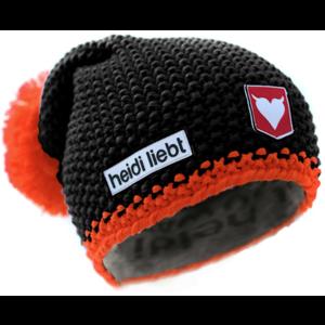 Beanie Limited Edition | Heidi Liebt | Zwart Orange