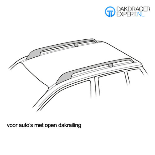 Twinny Load Volvo XC90   bouwjaar 2002 t/m 2014   open dakrailing   MAC