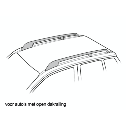 Dakdragers BMW X5 met open dakrailing