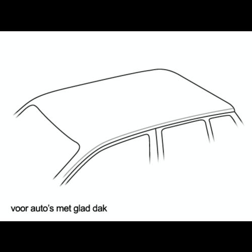 met glad dak (zonder railing of montagepunten)