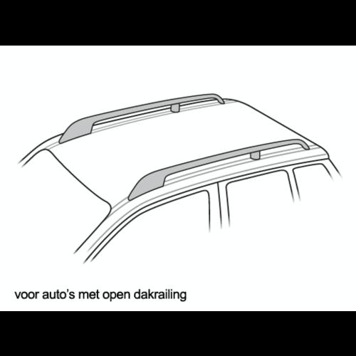 Dakdragers Opel Zafira met open dakrailing