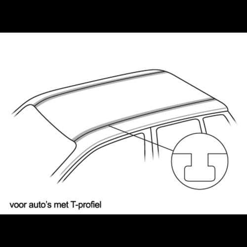 Dakdragers Porsche Cayenne met T-Profiel railing