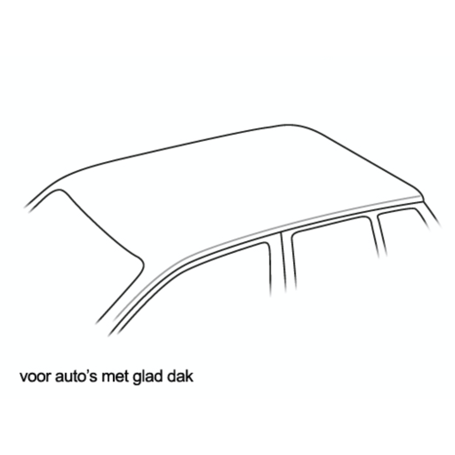 Thule Jaguar XF | sedan | bouwjaar 2008 t/m 2016 | glad dak | Thule SquareBar