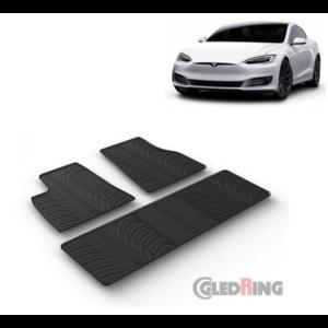 Rubberen automatten Tesla Model S bouwjaar 2016 t/m heden