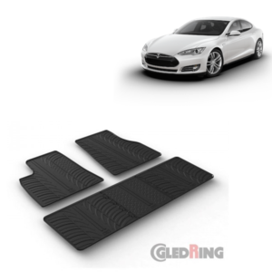Rubberen automatten Tesla Model S bouwjaar 2013 t/m 2016