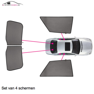 Carshades Audi A3 | 3 deurs | bouwjaar 2012 t/m heden | CarShades