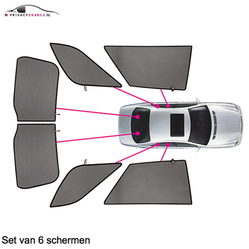 Carshades Audi A4   avant   bouwjaar 2001 t/m 2008   CarShades
