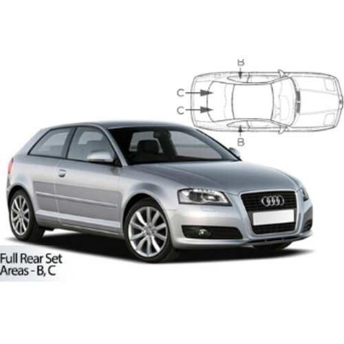 Carshades Audi A3   3 deurs   bouwjaar 2012 t/m heden   CarShades