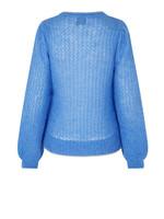 Brett Knit O-Neck Blue Bonnet