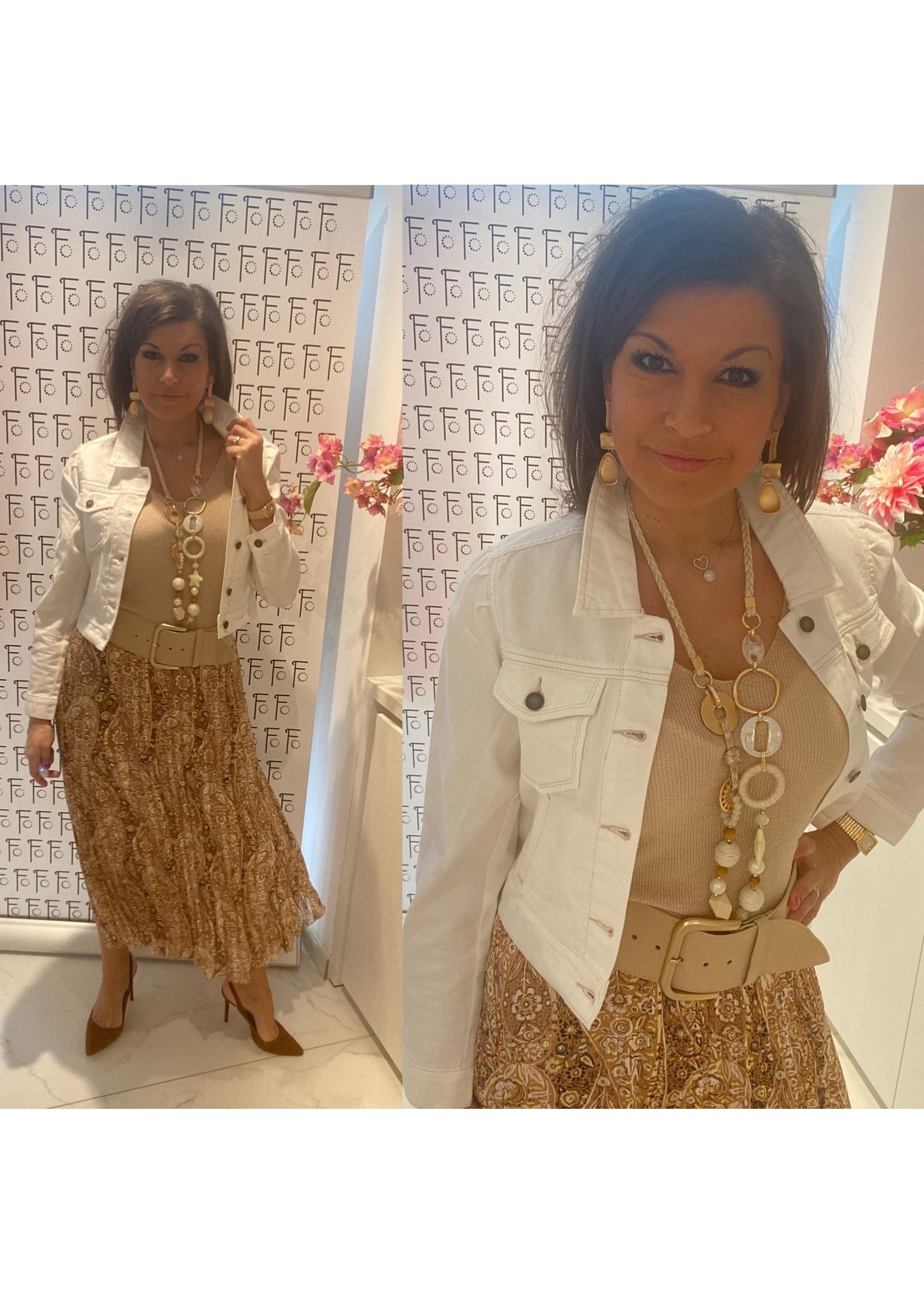 15003 Skirt plisse brown paisley