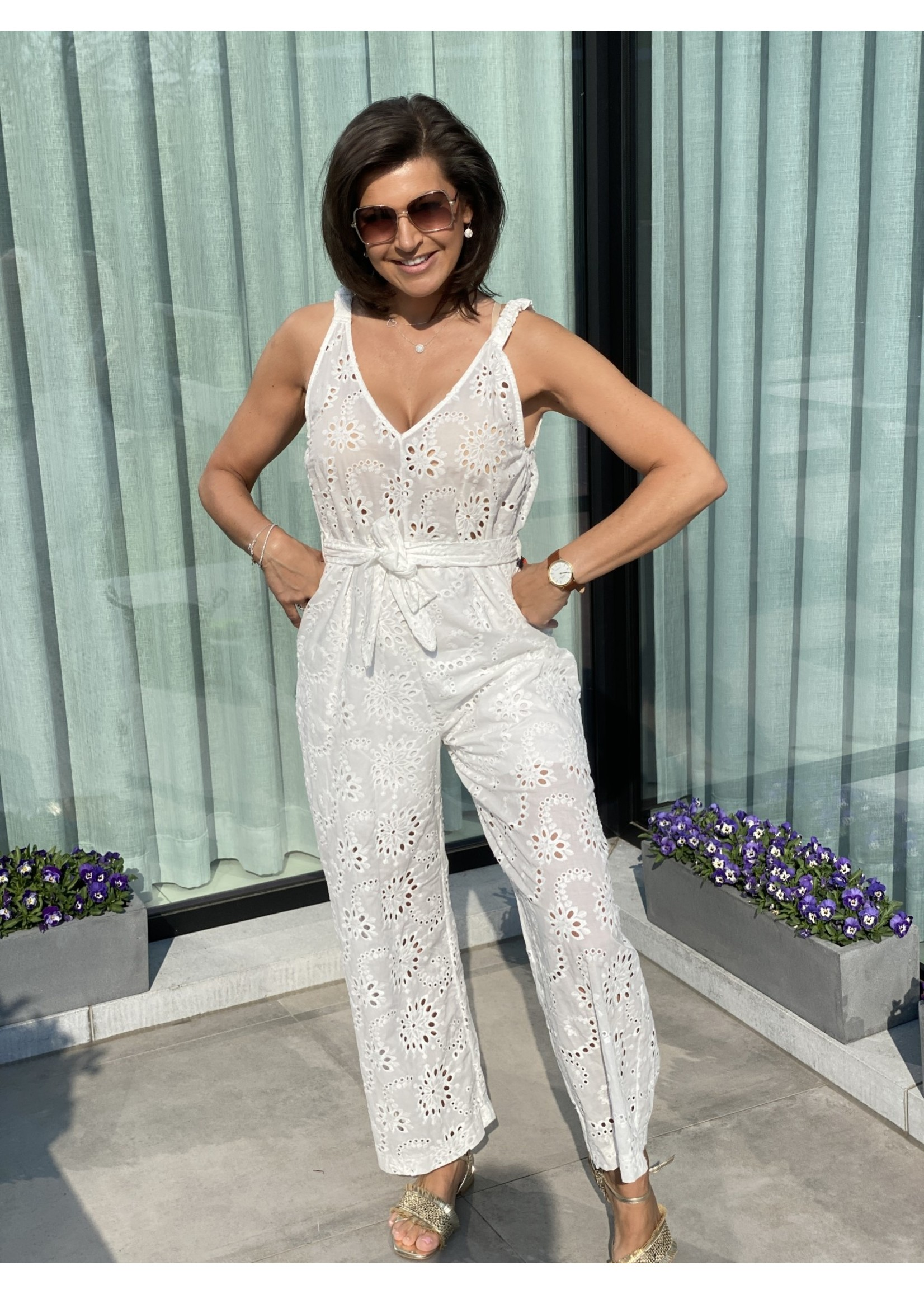 Jumpsuit broderie anglaise