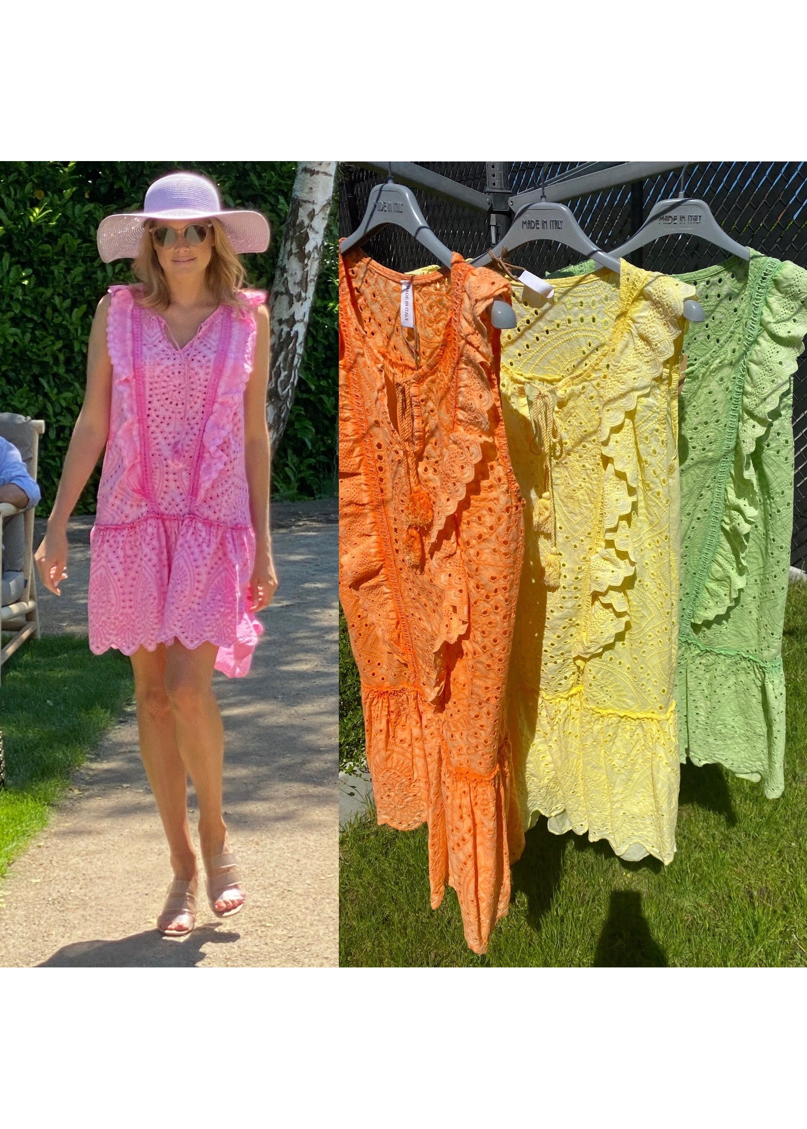 Broderie Anglaise Fluo