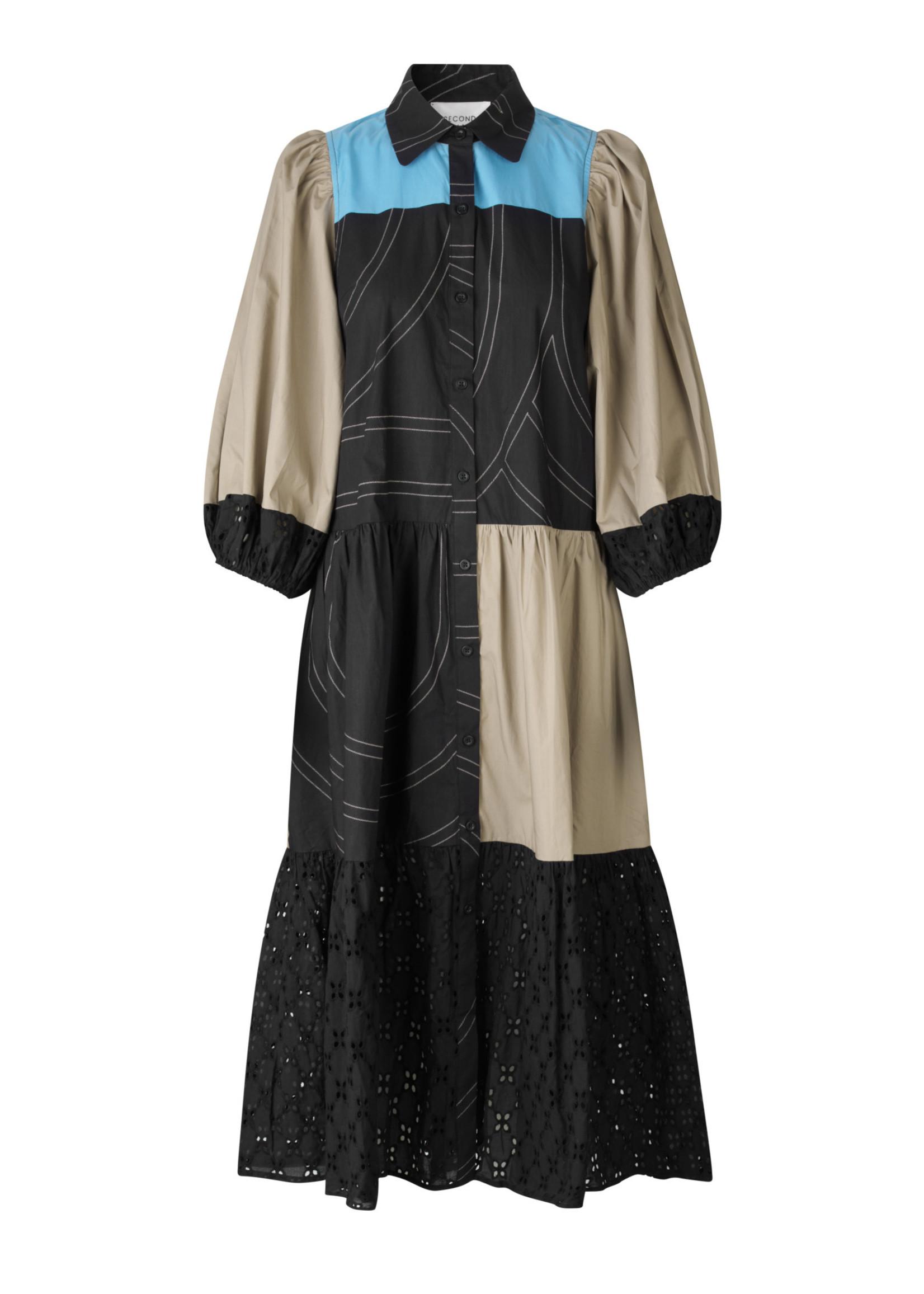 55186 Mix Dakky Dress black