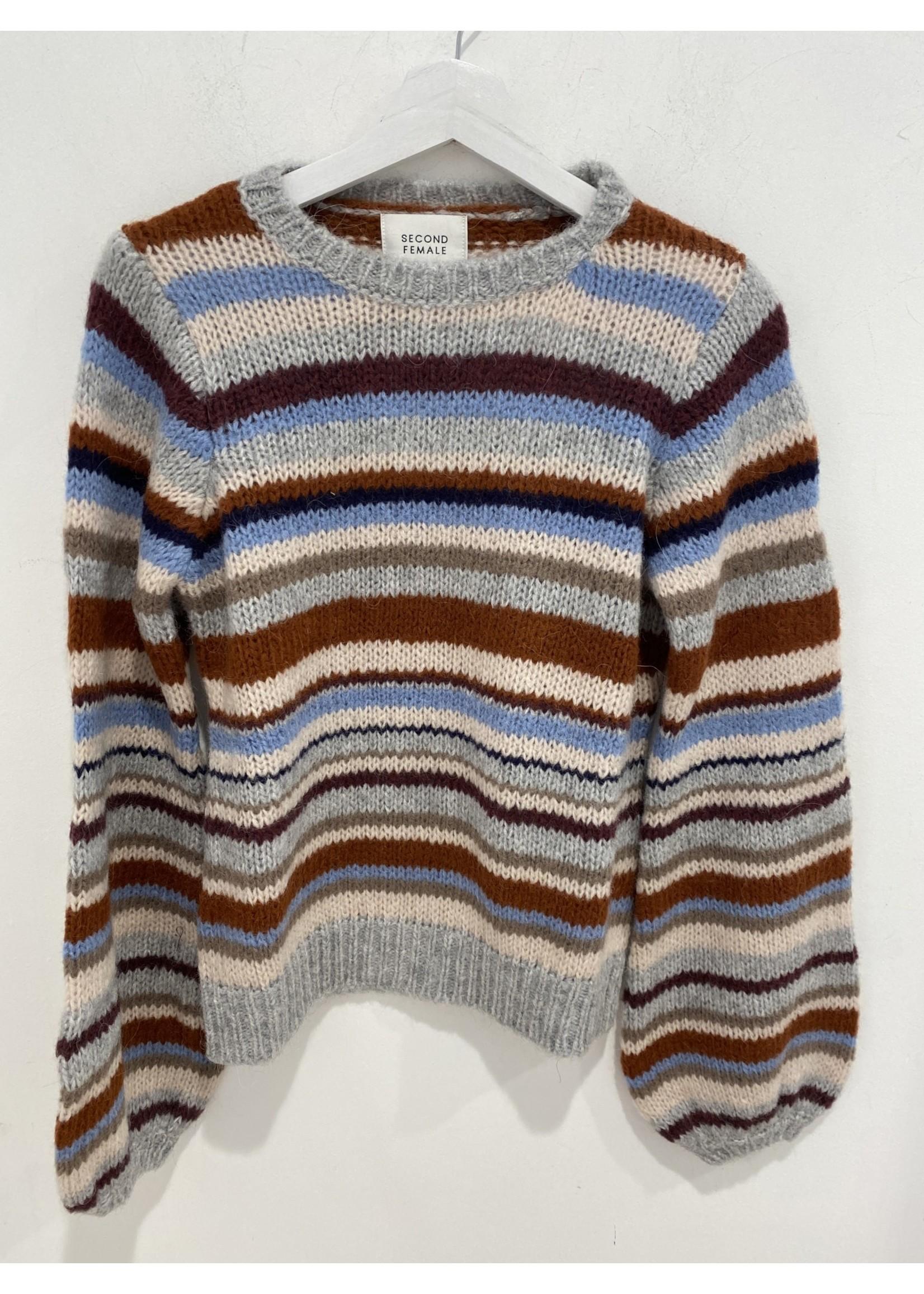 55175 Francina knit o-neck cinnamon stick