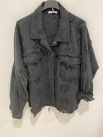 Jacket Broderie Jeans Black