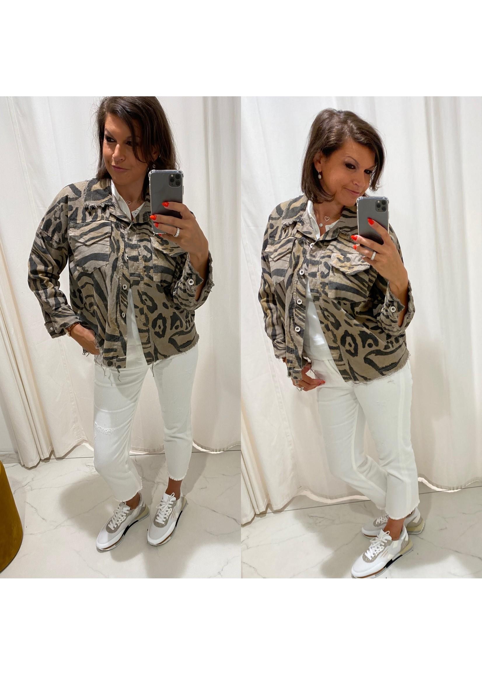 Jacket Zebra Velvet