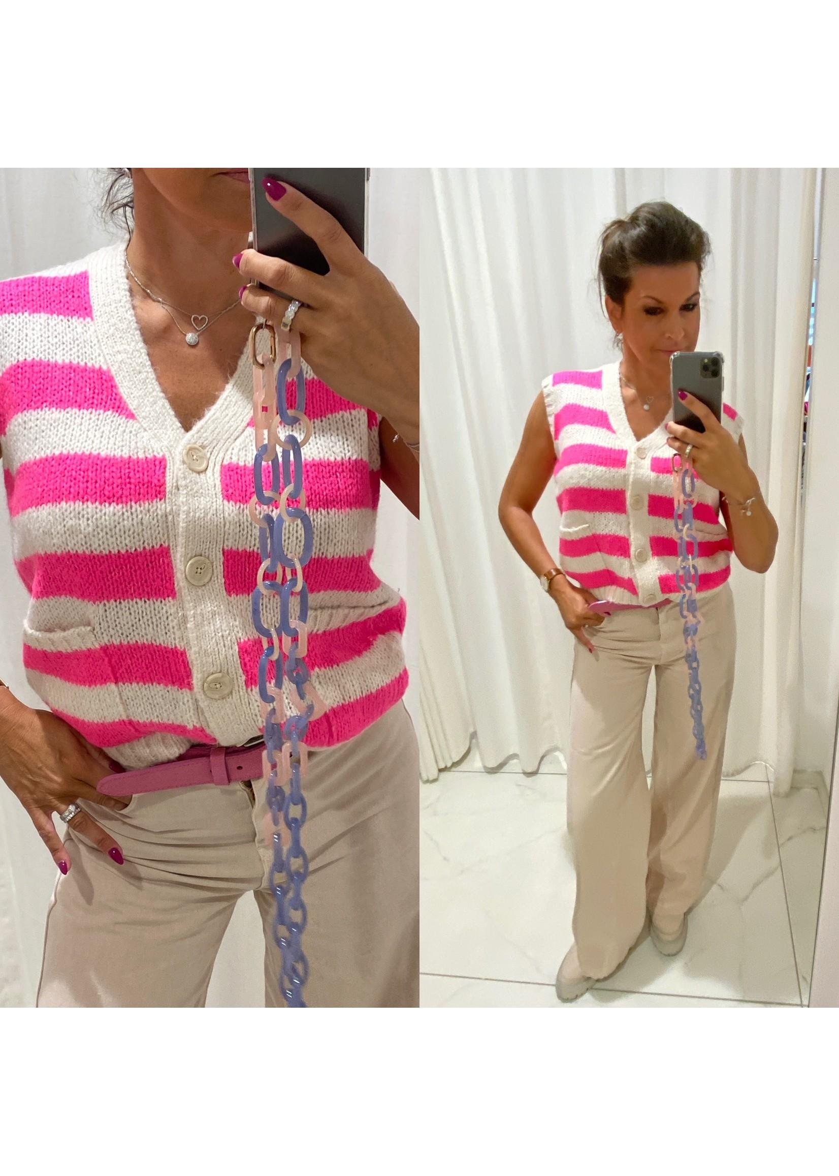 LL-21405-6003 LL98 Celine vest Neon Pink
