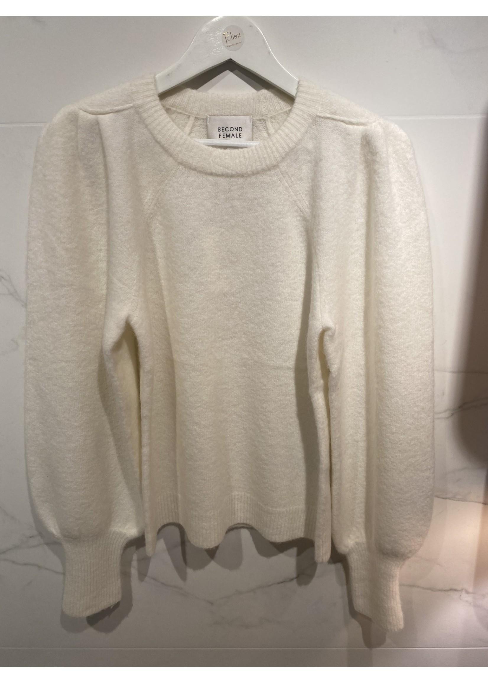 55096 Kalliroi Knit O-Neck off white