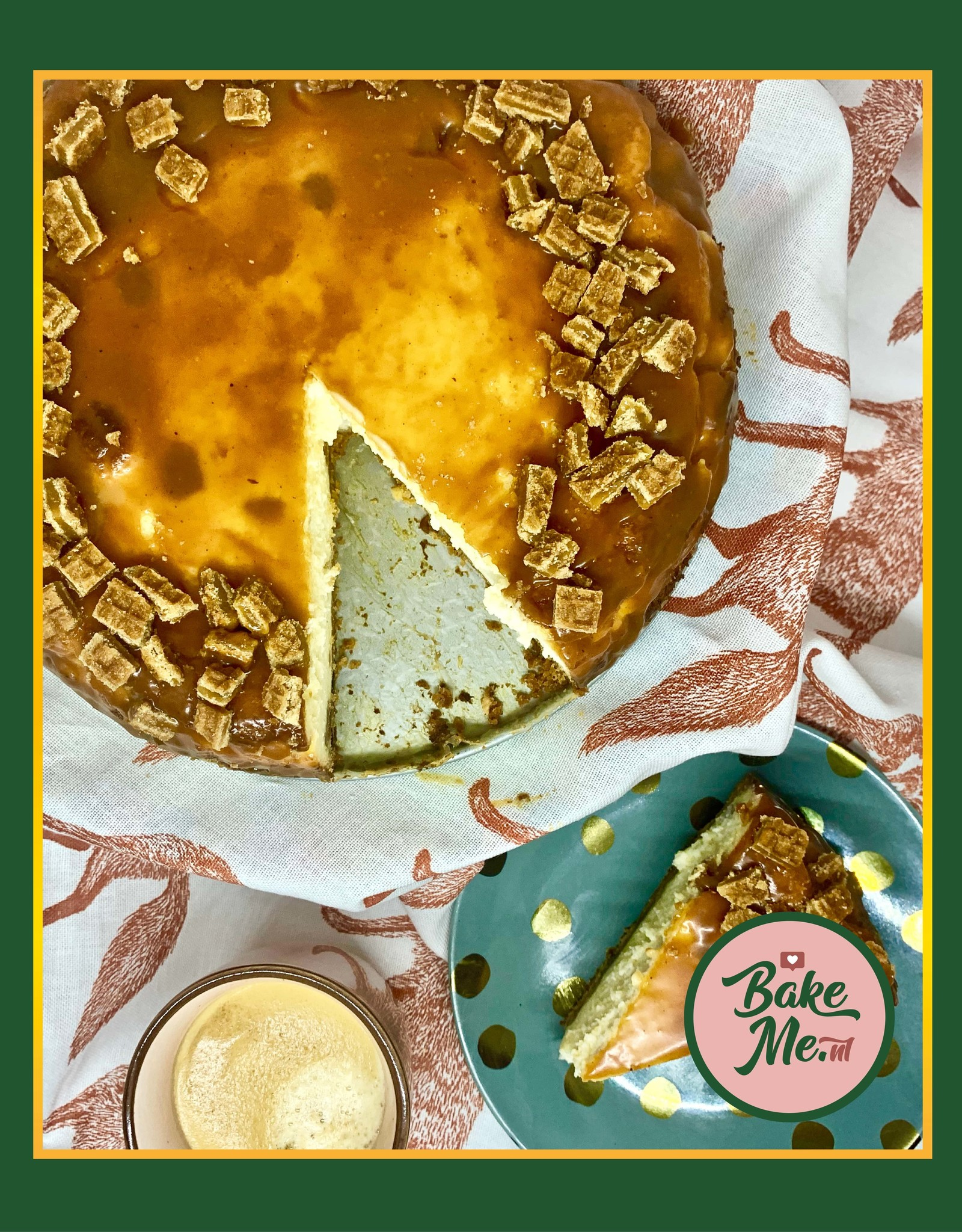 Stroopwafel Karamel Cheesecake bakmix