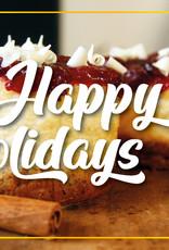 "Wenskaart ""Happy Holidays"""