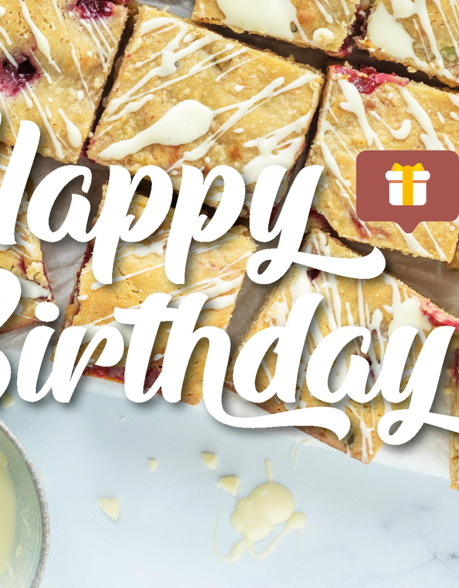 """Happy Birthday"" wenskaart"