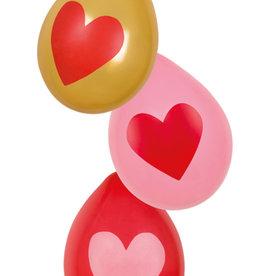 """Love ballonnen """"Rood&Goud&Roze 6st"""