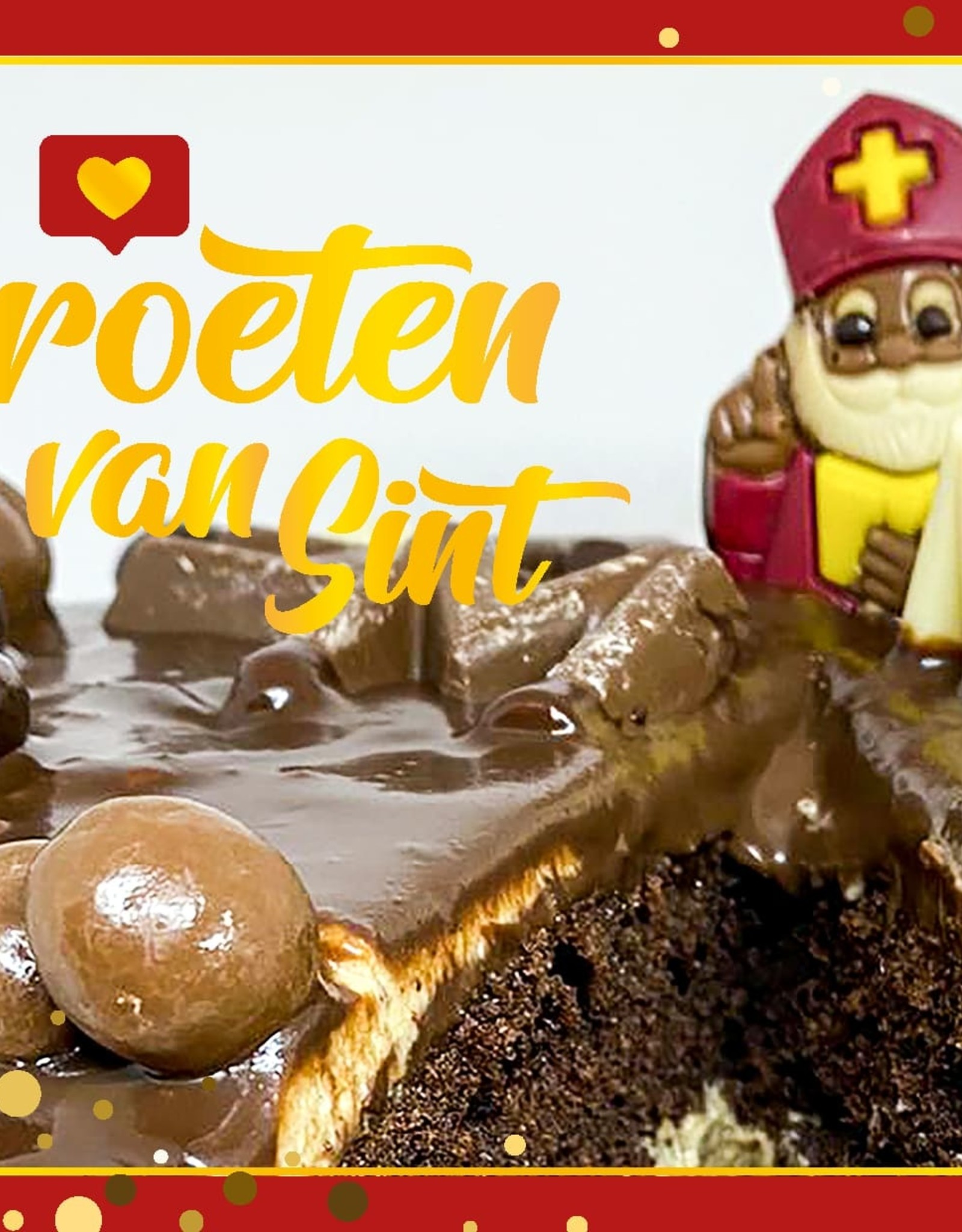 "Bake me Wenskaart ""Groeten van Sint"""