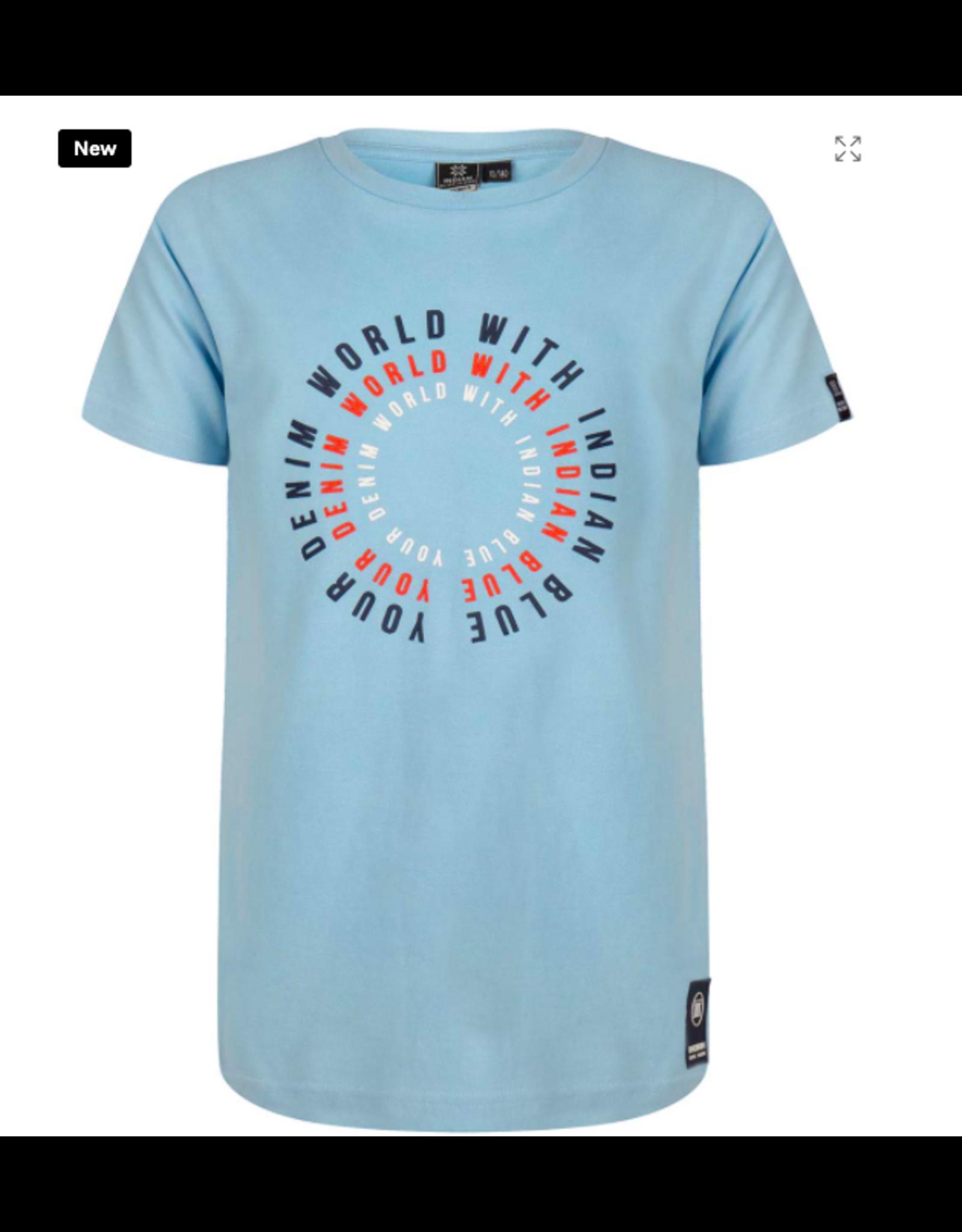 Indian Blue Jeans IBJ T-shirt lichblauw