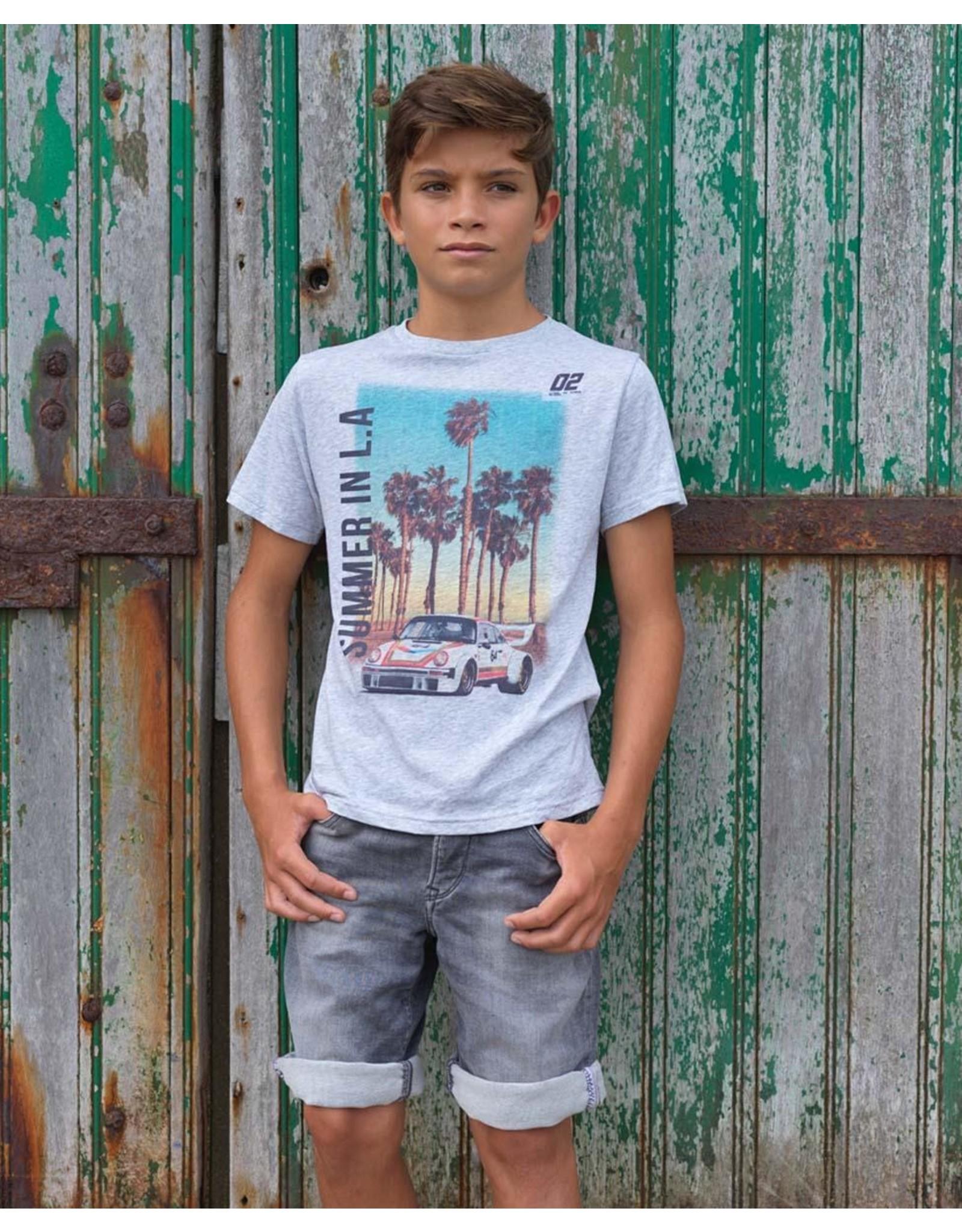 Le temps des cérises Ltdc T-shirt grijs Summer in LA