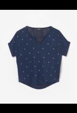 Le temps des cérises LTDC T-shirt Botagi donkerblauw studs