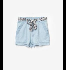 Le temps des cérises short Britanygi jeans tencel lichtblauw