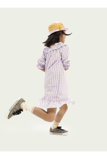Scotch & Soda S&S off-shoulder jurk lila ruffle