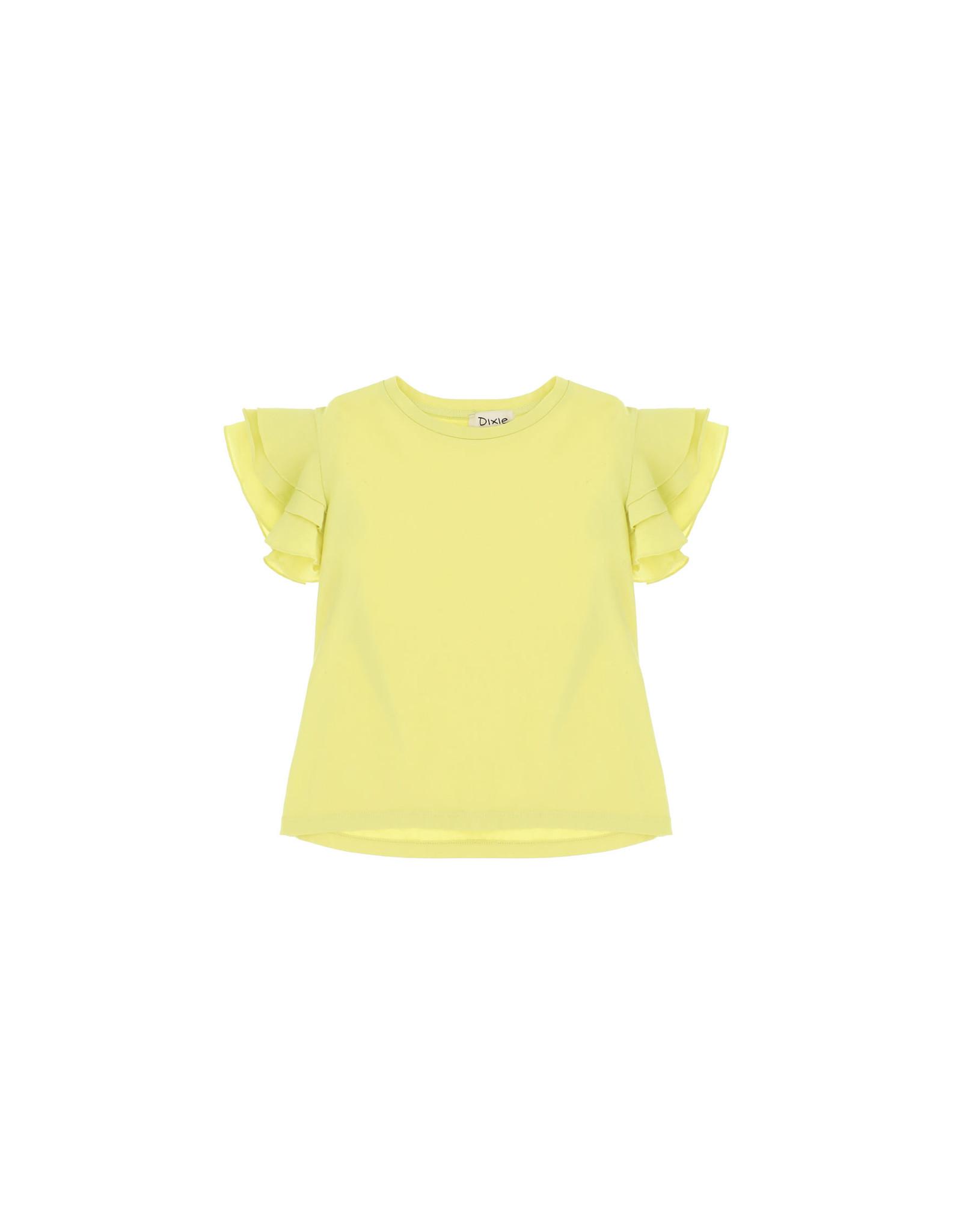 Dixie Dixie T-shirt ruffles mouw lime