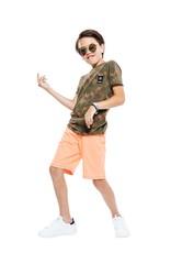 Indian Blue Jeans IBJ jogging short fel oranje