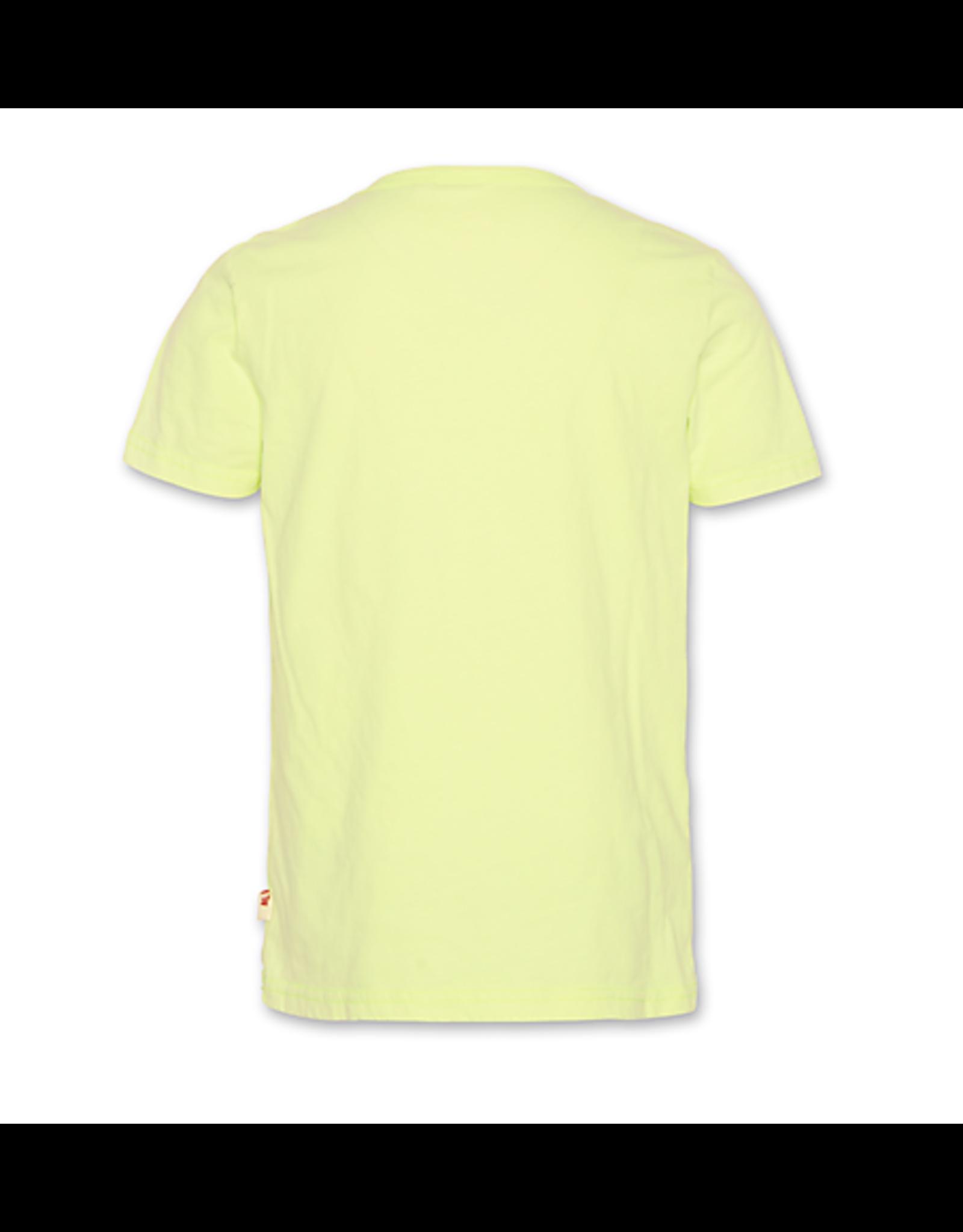 A076 AO76 T-shirt surf fluo geel